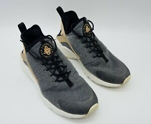 Nike Air Huarache Run Ultra SE Women's Shoes Vachetta Tan Gray 859516 001 Sz 8.5