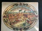 Vintage Anheuser-Busch Brewing Ass'n St Louis MO - Cardboard Oval Sign