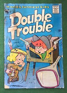 Double Trouble #2 St. John Publishing Co. Golden Age funny kids 1958 pr/fr