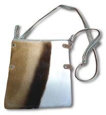 Springbok Handbag real genuine leather springbok hand bag Mini Foldover Zip Top
