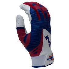 2018 Miken Pro Adult Batting Gloves  (Red/White/Blue) MBGL18-RWB  EXTRA LARGE