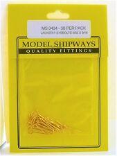 Model Shipways Fittings MS 0434 Jackstay Eyebolts 3/32 X 9/16 30 Per Pack. NEW
