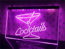 Cocktails Bar Led Neon Light Sign 40x30 cm Rum Wine Sport Gift Advertise Decor