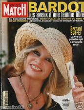 Couverture magazine,Coverage Paris Match 14/10/99 Brigitte Bardot