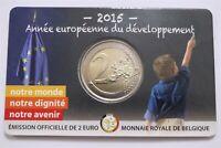 BELGIUM 2 EURO 2015 COIN CARD DEVELOPMENT B28 #9