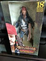 Pirates Caribbean Dead Mans Chest Captain Jack Sparrow Talking Action Figure 18""