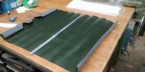 Green P U Coated butt split leather panel 1.5mm thickness LOT 1478
