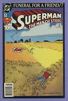 Superman The Man of Steel #21 1993 Funeral for a Friend Newsstand Bogdanove DC k