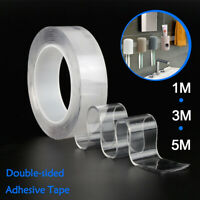 Reusable Double Sided Adhesive Nano Magic Tape Removable Strong Traceless Gel