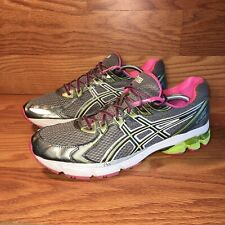 Asics Gel GT 2170 Running Shoes T256N Gray Pink Green Lace Up Women's Size 12.5