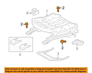 TOYOTA OEM Seat Track-Seat Adjust Assembly Bolt 90119A0112