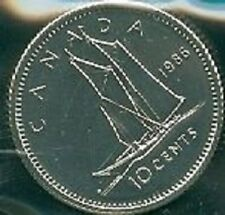 1986-PL Proof-Like Dime 10 Ten Cent '86 Canada/Canadian BU Coin Un-Circulated