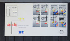 1983 FDC 210 De Stijl - blokken van vier