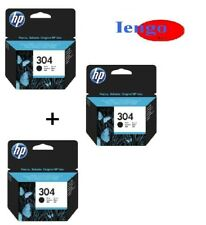 3 Cartucce originali HP 304 2nero 1colore DeskJet 2620 3720 3721 3723 3730 3732