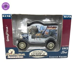 Remington Country 1912 Ford Model T Diecast Gearbox Coin Bank Deer Buck and Doe