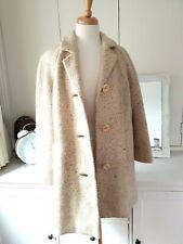 IRISH TWEED Vintage stunning cream  Herringbone  coat size 14 - 16 UK