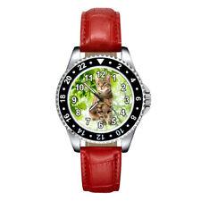 Sokoke Forest Cat Fashion Mens Womens Unisex Leather Strap Quartz Wrist Watch