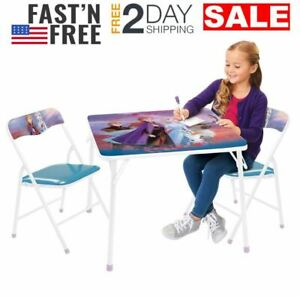 Frozen 2 Erasable Kids Table And Chairs Set For Girl Bedroom Playroom Furniture