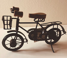 Tabletop Bicycle Decor Walnut Finish Hand Crafted Artisan Design