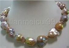 huge AAA 15-20mm lavender south sea baroque reborn keshi pearl necklace 18 INCH