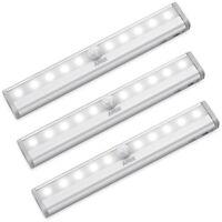 3x AMIR 10 LED PIR Motion Sensor Wireless Night Light Battery Cabinet Stair Lamp