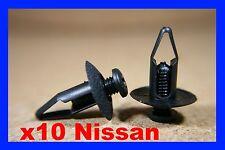 10 Nissan pare-choc Aile carénage Panneau de garniture FIXATION VIS CLIPS