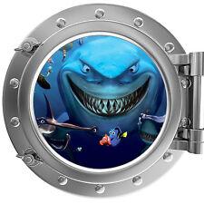 Alla ricerca di Nemo-SQUALI Oblò adesivo muro