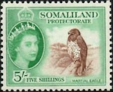 Somaliland 1953 QEII  5/- Red-Brown & Emerald   SG.147 Mint (Hinged)