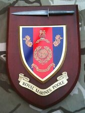 Royal Marines Poole with Pewter Model Military Wall Plaque