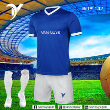 12 Custom Soccer Uniform $25 each set (Jerseys with numbers, Shorts and socks)