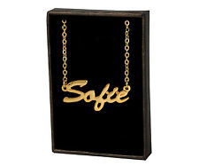 - Gifts For Her Love Girlfriend Sofie 18ct Gold Plating Necklace With Name