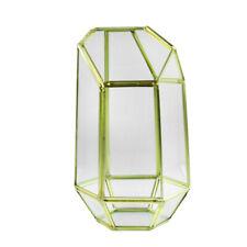 Brass Fairy Garden DIY Terrarium Tealight Candle Holder Clear Glass Vase
