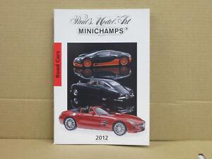 Paul's Model Art / Minichamps Katalog, Road Cars, 2012, deutsch, 68 Seiten