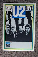 U2 Concert Tour Poster 1983 The Unforgettable Fire-Tour