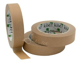 Strong Paper Packaging Tape 25/36/50mm   Brown Eco-Friendly Kraft Paper Tape 50m