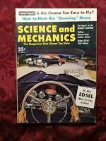 SCIENCE and MECHANICS magazine October 1957 Ford Edsel Renault Dauphine Cessna