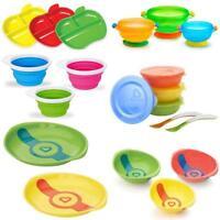 Munchkin Bowl Plate Food Weaning Snack Toddler Feeding Heat Sensitive Suction