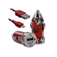 Chargeur voiture allume cigare USB motif CV01 pour Acer Liquid Z630