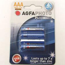 Confezione da 4 Batterie AAA AGFA Alcaline HIGH POWER 24au lr03 mn2400 scadenza 2022