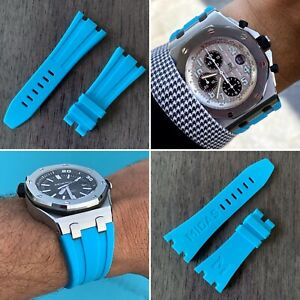 Riviera Blue rubber strap for 42mm Audemars Piguet Royal Oak Offshore & Diver