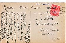 Genealogy Postcard - Family History - Brook - Horn Lane - Acton - London  U3615