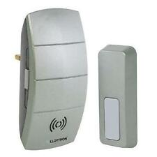 Lloytron b7504 PLUG IN WIRELESS porta campana campanel 32 MELODY IMPERMEABILE PUSH-Grigio