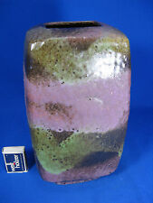 Rare 70´s design Ruscha pottery Keramik Fat Lava vase with multicoloured glazes