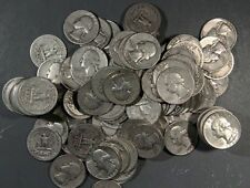 1932-1964 WASHINGTON QUARTERS, LOT OF 12 90% SILVER