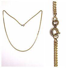 CADENA ENTRELAZADO Plano Serpentina Collar 333 oro collar cadena de oro 48 cm