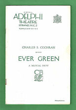 "Rodgers & Hart ""EVERGREEN"" Jessie Matthews / Joyce Barbour 1931 London Program"