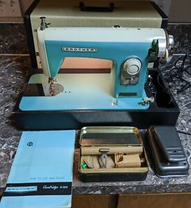 Vintage Brother Cambridge #160 w/ Case Manual Accessories Tested Works Free Ship
