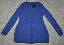 NWT $49-Womens Daisy Fuentes Blue Long Sleeve Button Up Cardigan Sweater-size S