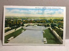 Will Rogers Tomb Garden Claremore Oklahoma Cowboy/Actor Vtg Postcard Posted 1941