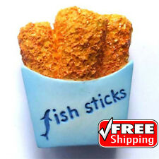 Fast Food Snack Fish Sticks High Quality Resin 3D Fridge Magnet